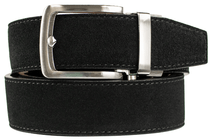 Nexbelt: Men's Suede Series Dress Belt - Black