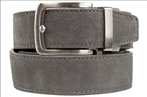 Nexbelt: Men's Suede Series Dress Belt - Grey