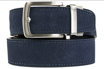 Nexbelt: Men's Suede Series Dress Belt - Navy