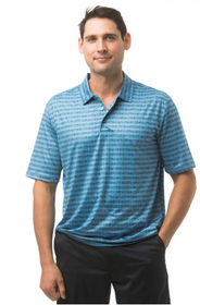 SanSoleil: Men's UPF 50 Button Print Polo - 900828