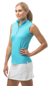 SanSoleil: Ladies UPF 50 Soltekice Sleeveless Mock - 900617