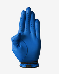 Asher Golf: Mens Premium Golf Glove -  Indigo Ink