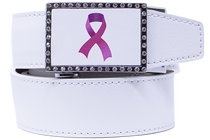 Nexbelt: Women's Classic Golf Belt - Pink Ribbon Gem