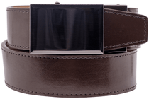 Nexbelt: Dress Belt Ratchet Buckle - Gunmetal Espresso