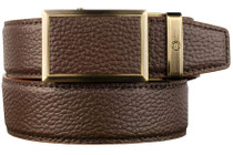 Nexbelt: Men's Go-In Pebble Grain V.4 Belt - Tobacco