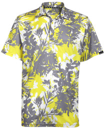 Tattoo Golf: Men's Hawaiian Golf Shirt - Aloha II (Yellow/Grey)