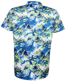 Tattoo Golf: Men's Hawaiian Golf Shirt - Aloha II (Blue/Green)