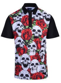 Skulls & Roses Mens Golf Polo Shirt by ReadyGOLF