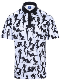 Ladies In White Mens Golf Polo Shirt by ReadyGOLF