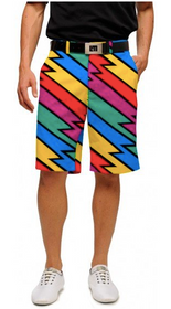 Loudmouth Golf: Men's StretchTech Shorts - Captain Thunderbolt
