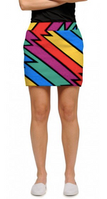 Loudmouth Golf: Women's StretchTech Skort - Captain Thunderbolt