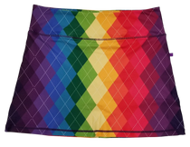 Rainbow Argyle Ladies Active SKORT by ReadyGOLF