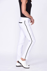 Golftini: Women's Trophy Pull-On Stretch Twill Pant - White (Size: Large) SALE