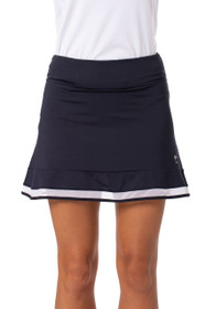Golftini: Women's Top Golf Pull On Ruffle Stretch Skort - Navy