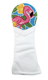 Smathers & Branson: Hybrid Needlepoint Golf Headcover -  Pink Flamingo