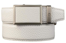 Nexbelt: Men's Go-In Pebble Grain V.4 Belt - Winner White