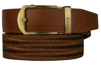 Nexbelt: Men's Basket Weave Golf Belt - Claro Brown