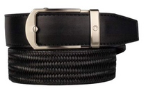 Nexbelt: Men's Basket Weave Golf Belt - Maduro Black