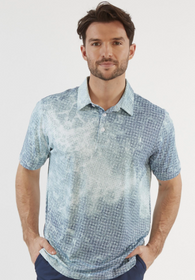 Chase 54: Men's Short Sleeve Polo - Tide