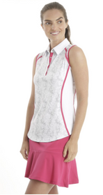 Chase 54: Women's Sleeveless Polo - Tangle