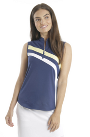 Chase 54: Women's Sleeveless Polo - Wave