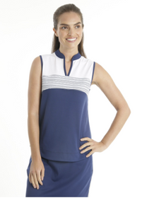 Chase 54: Women's Sleeveless Polo - Anchor