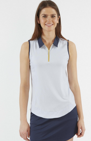 Chase 54: Women's Sleeveless Polo - Jump