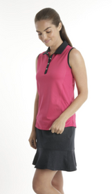Chase 54: Women's Sleeveless Polo - Serum