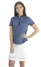 Chase 54: Women's Short Sleeve Polo - Dodger