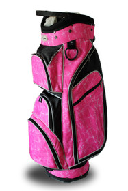 Taboo Fashions: Ladies Monaco Premium Lightweight Cart Bag - Pink Brushstrokes