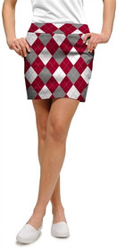 Loudmouth Golf: Women's Skort - Red & Gray & White (Size 2)