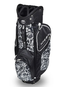 Hotz Golf: Ladies 2.5 Lace Cart Bag - Black/White