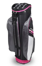 Hotz Golf: Ladies 2.5 Lace Cart Bag - Black/Pink/White *Shipping Late November*