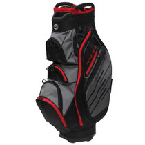 Hot-Z Golf: 5.5 Cart Bag - Black/Gray/Red