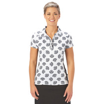 Nancy Lopez Golf: Women's Short Sleeve Polo - Bloom