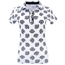 Nancy Lopez Golf: Women's Short Sleeve Polo Plus - Bloom
