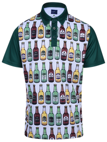 Beer On The Wall Mens Golf Polo Shirt by ReadyGOLF
