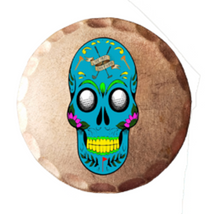 Sunfish: Copper Ball Marker - Sugar Skull Golfer