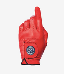 Asher Golf: Mens Premium Golf Glove - Red Burst