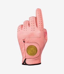 Asher Golf: Ladies Premium Golf Glove - Rose Gold