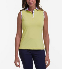 Fairway & Greene: Women's Lia Sleeveless Polo