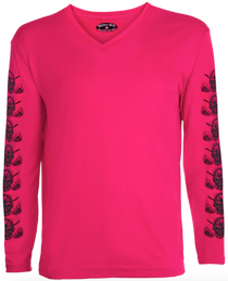 Tattoo Golf: Women's Long Sleeve Undershirt - Pink