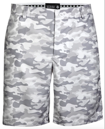 Tattoo Golf: Men's Camo ProCool Performance Golf Shorts - White