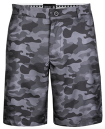 Tattoo Golf: Men's Camo ProCool Performance Golf Shorts - Black
