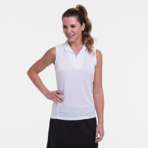 EP NY Golf: Women's Sleeveless Convertible Zip Mock Polo