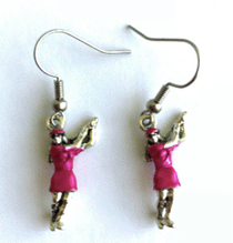 One Putt Designs - Pink Lady Golfer Earrings