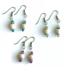 One Putt Designs - Ceramic Golf Ball with Swarovski Crystal Earrings