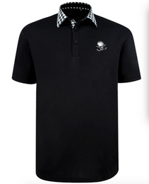 Tattoo Golf: Men's VIP ProCool Golf Shirt - Black
