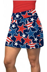 Loudmouth Golf: Women's Active Skort - Star Studded
