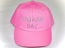 Dolly Mama Ladies Baseball Hat - Bad Hair Day on Pink
